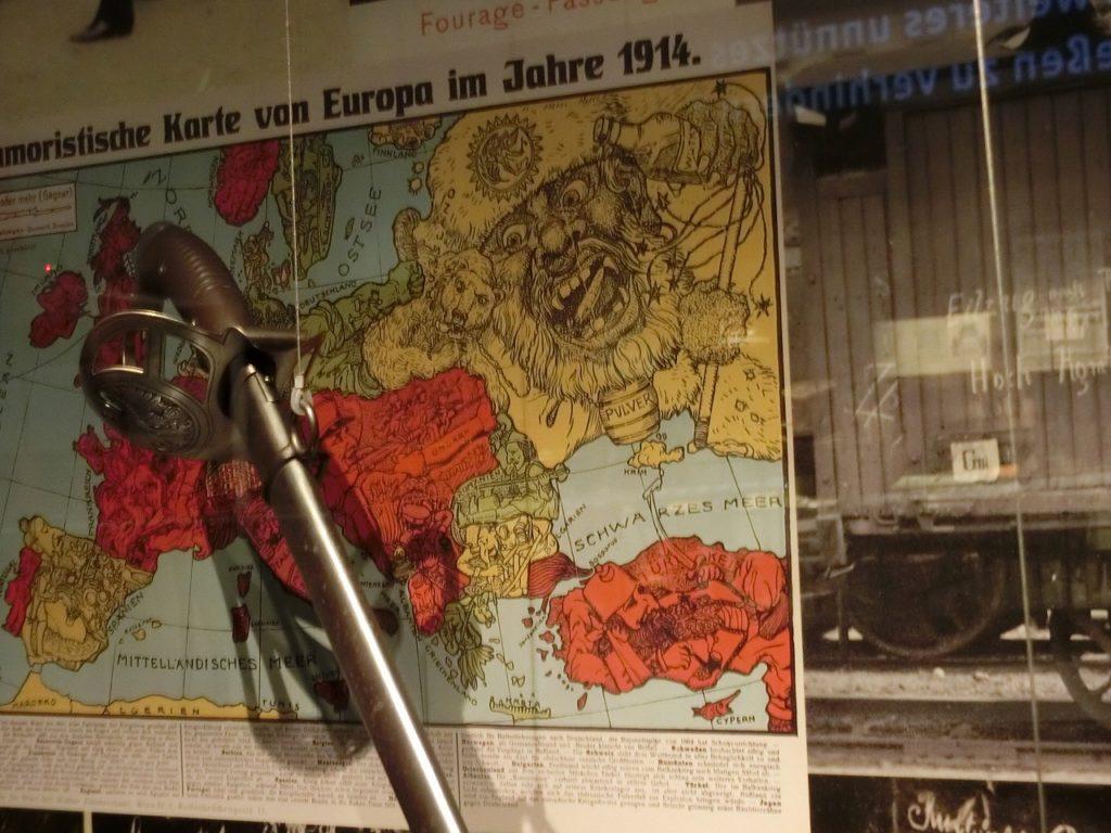 ヨーロッパの勢力図を表した絵