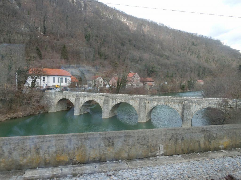 スロベニア鉄道、Zidani Most駅付近の車窓