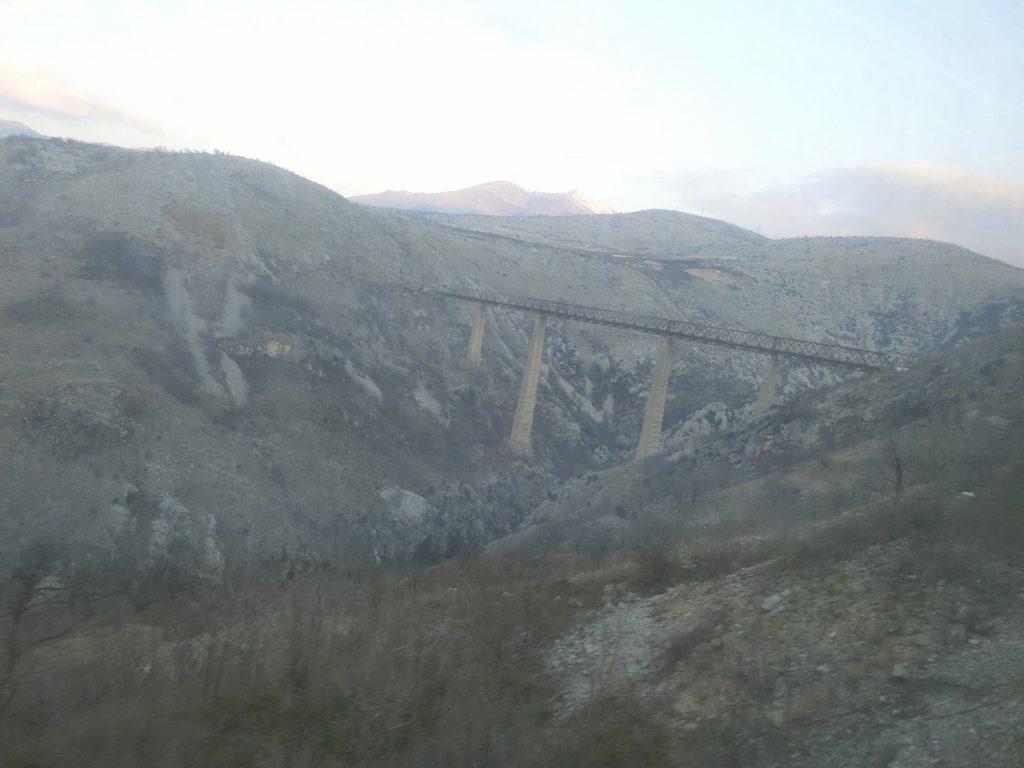 バール鉄道のマラ・リエカ橋梁