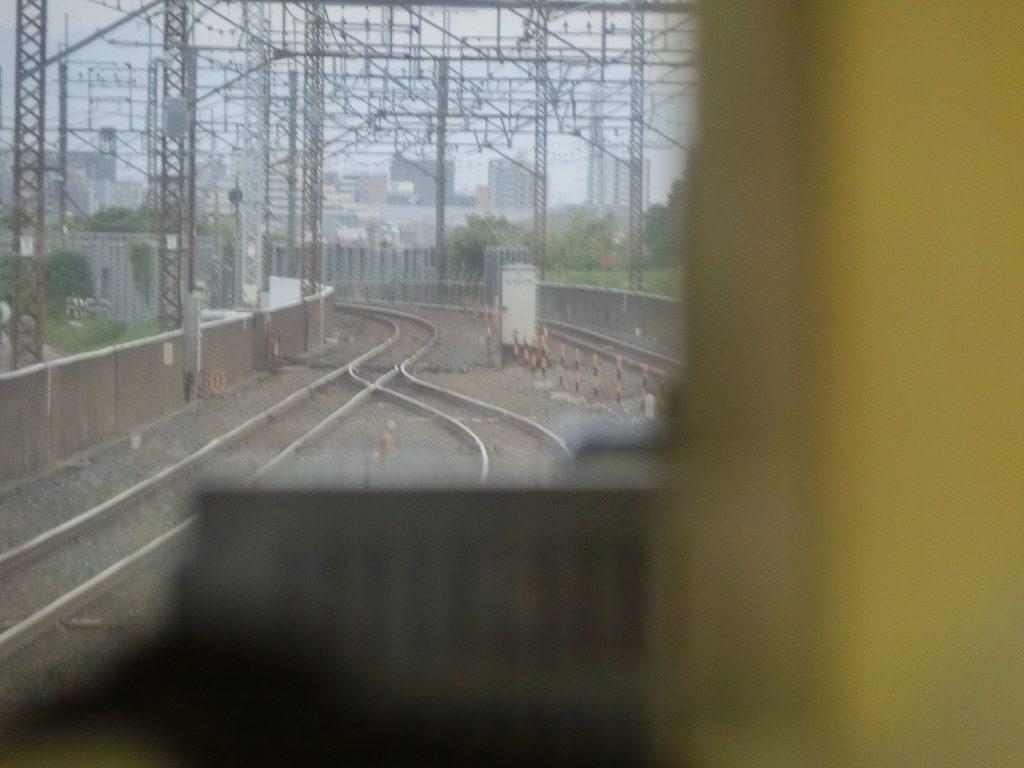 西浦和駅のポイント通過