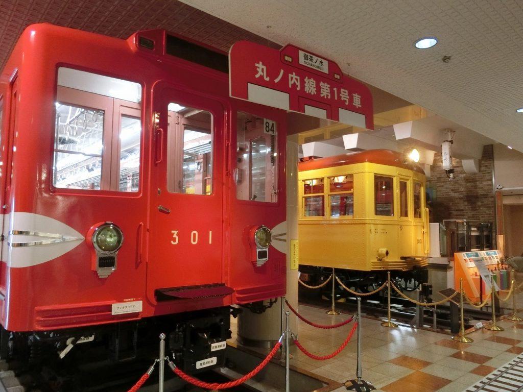 地下鉄博物館でも丸の内線と銀座線の初代車両の展示