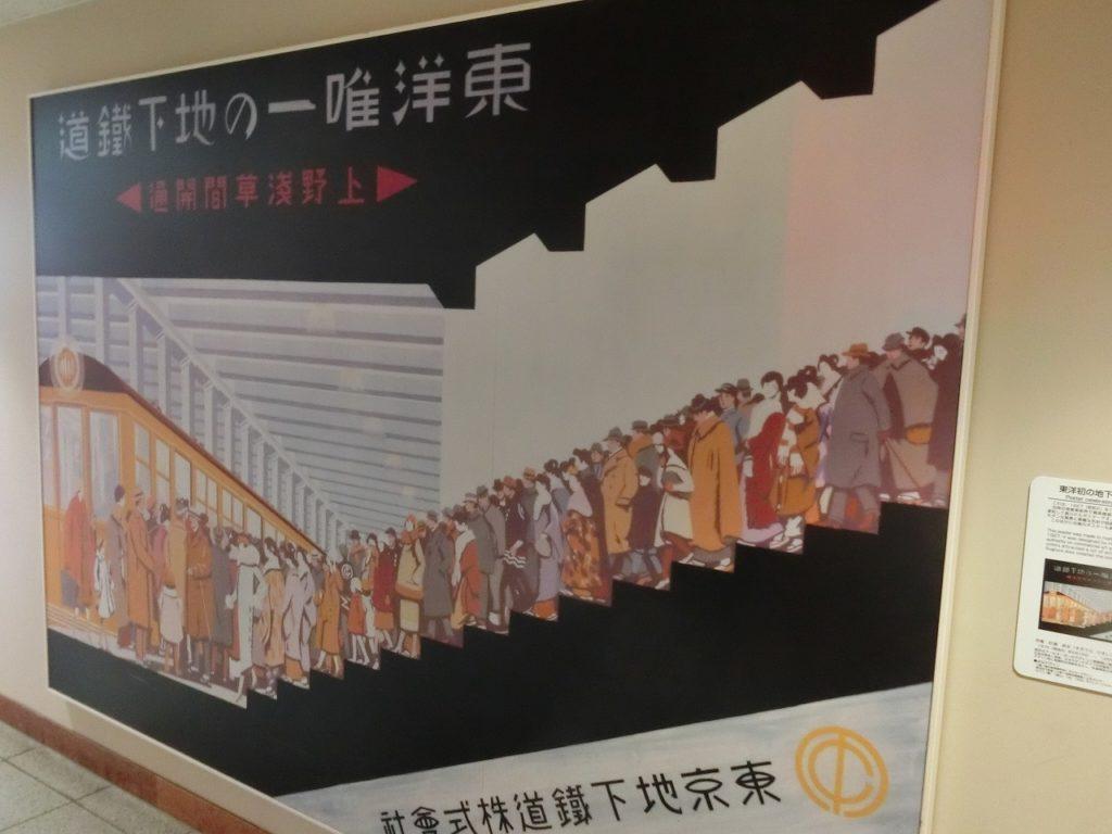 銀座線の開業当時のポスター