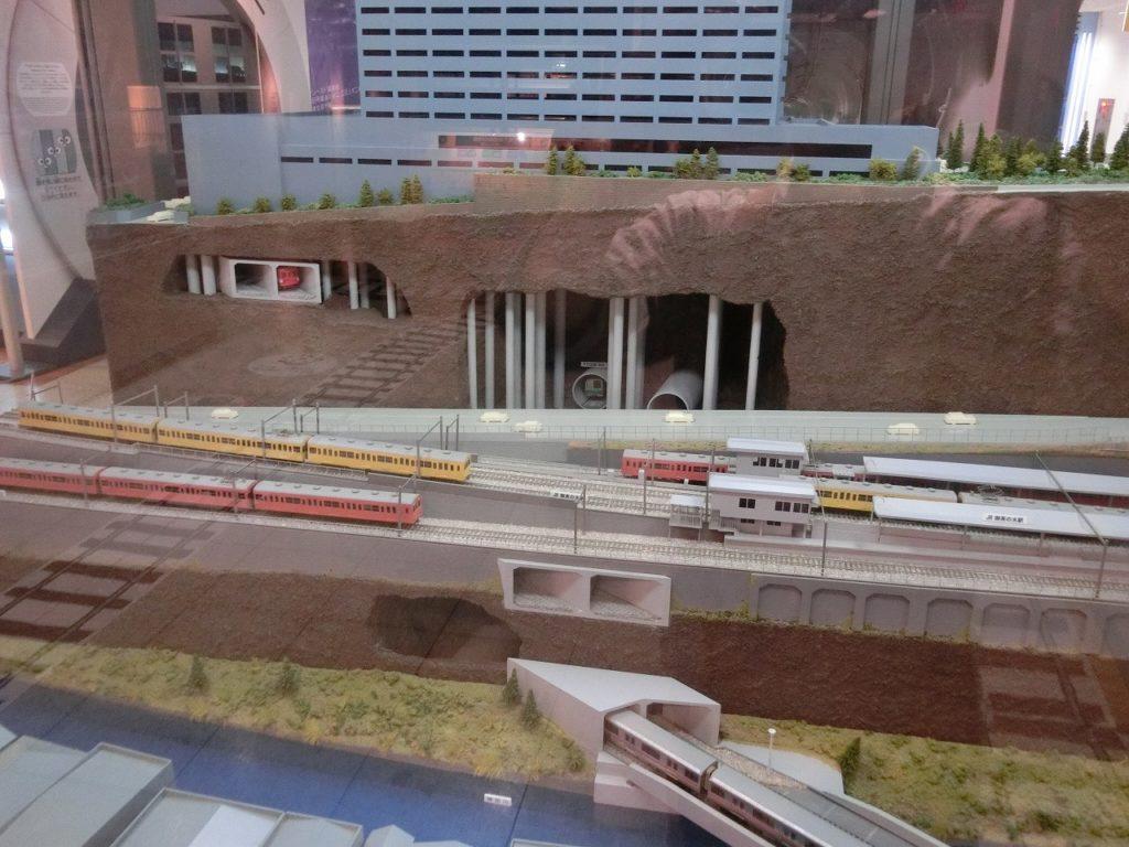 地下鉄博物館にある御茶ノ水駅の立体模型