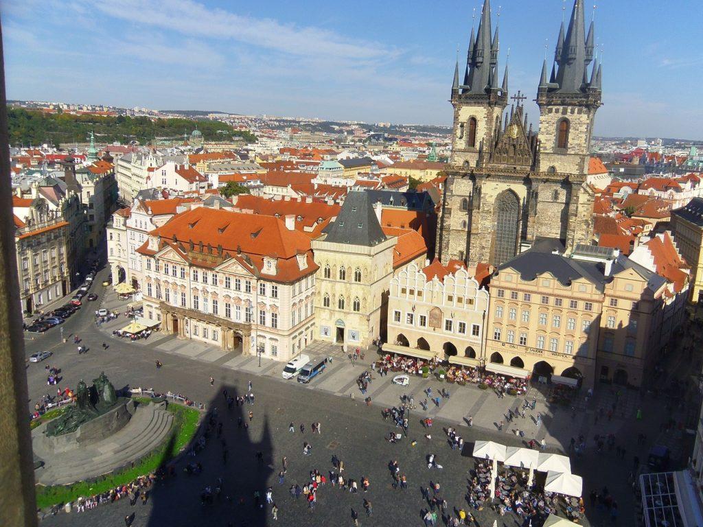 チェコの首都プラハの広場