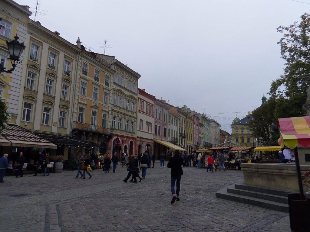 ウクライナ西部の都市リヴィウ
