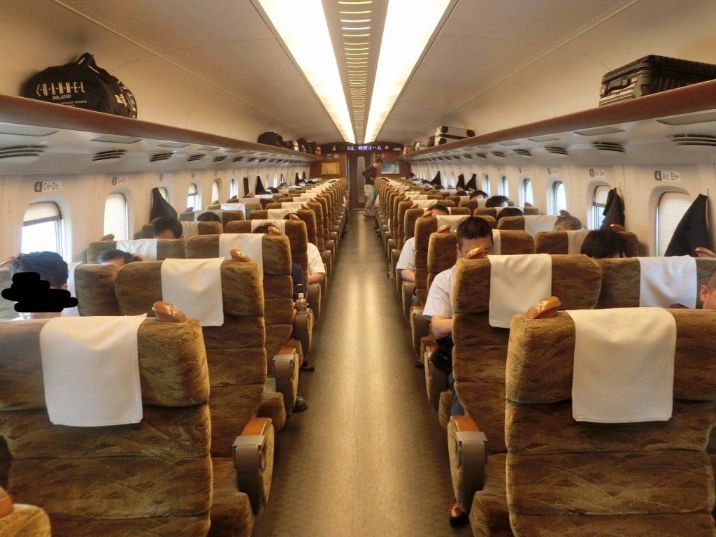 九州新幹線N700系の普通車指定席