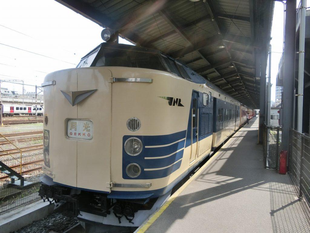 九州鉄道記念館の特急電車583系