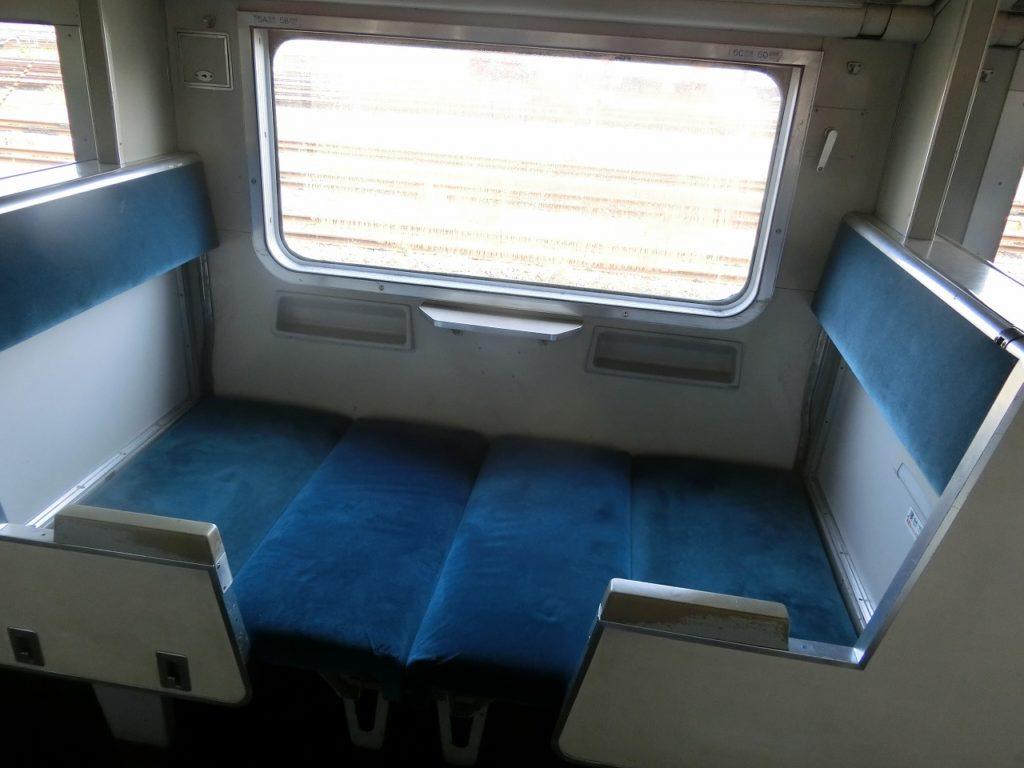 581系の座席から寝台への転換