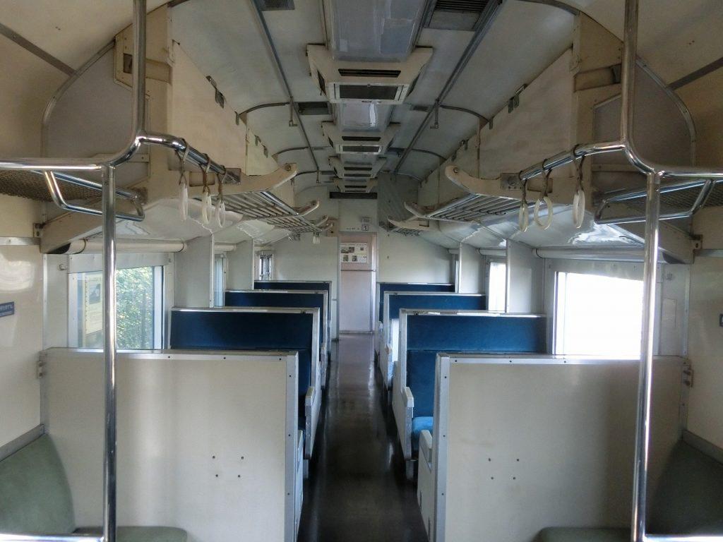 九州鉄道記念館の581系車内
