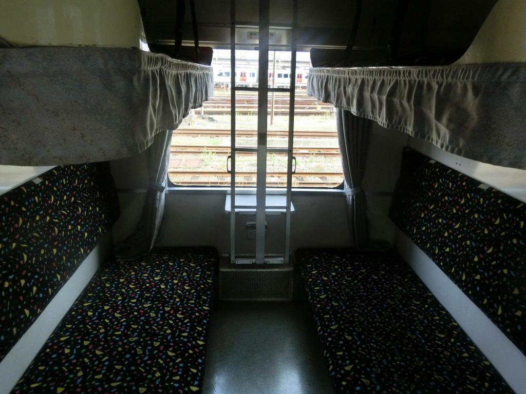 14系客車の2段ベッドのB寝台
