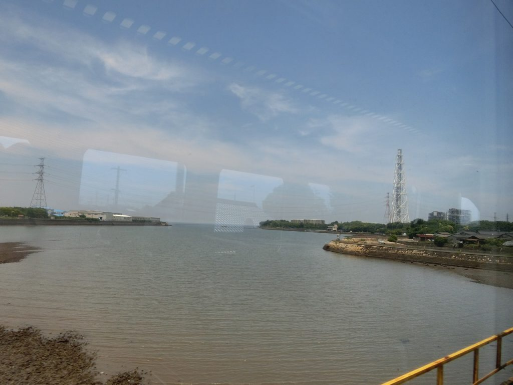 日豊本線豊前松江駅から見える海