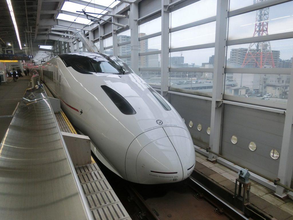 800系新幹線の先頭部分