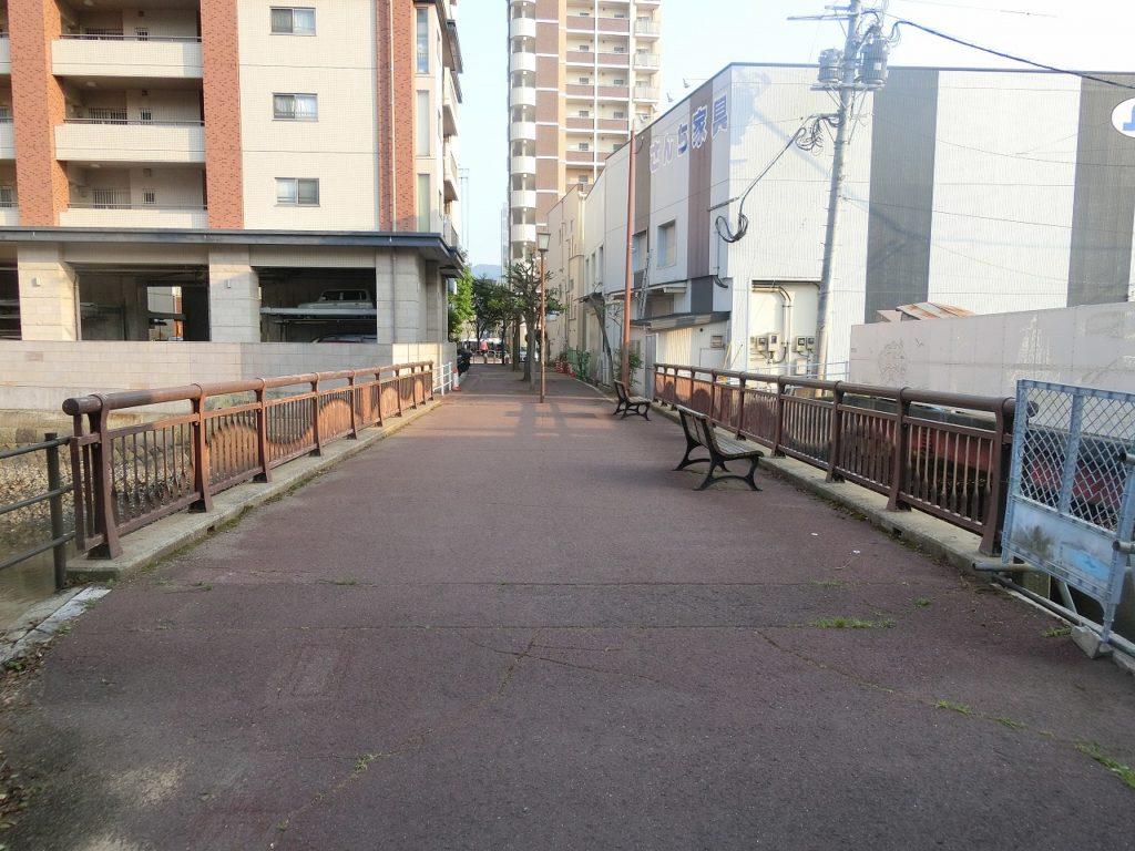 長崎港駅の廃線跡