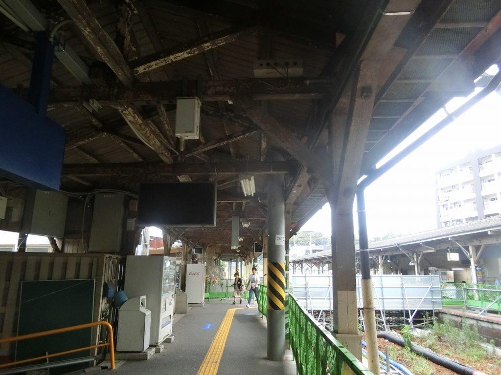 折尾駅の旧1,2番ホーム