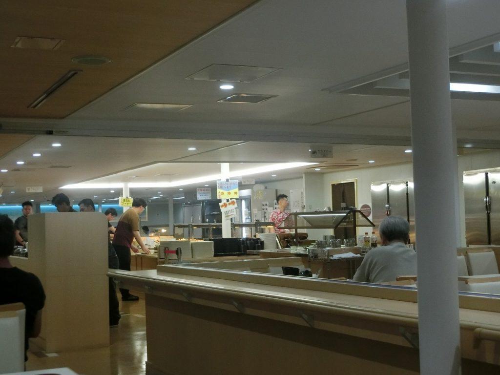名門大洋フェリーのレストラン