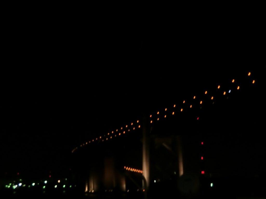 名門大洋フェリーから見た瀬戸大橋