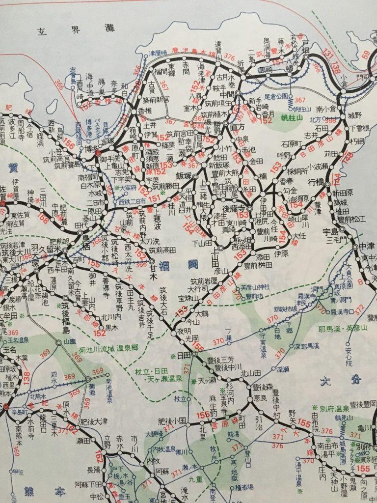 1967年の鉄道路線図