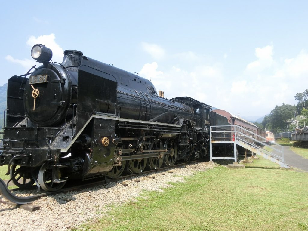 碓氷峠鉄道文化むらのD51形蒸気機関車