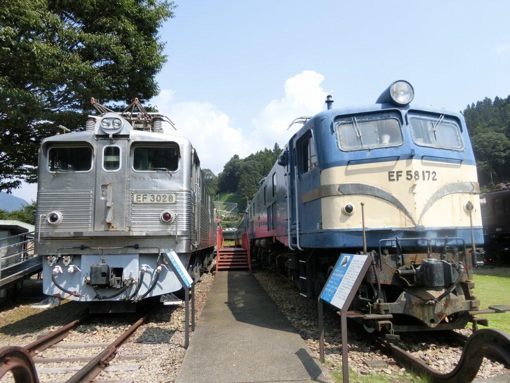 碓氷峠鉄道文化むらのEF58とEF30