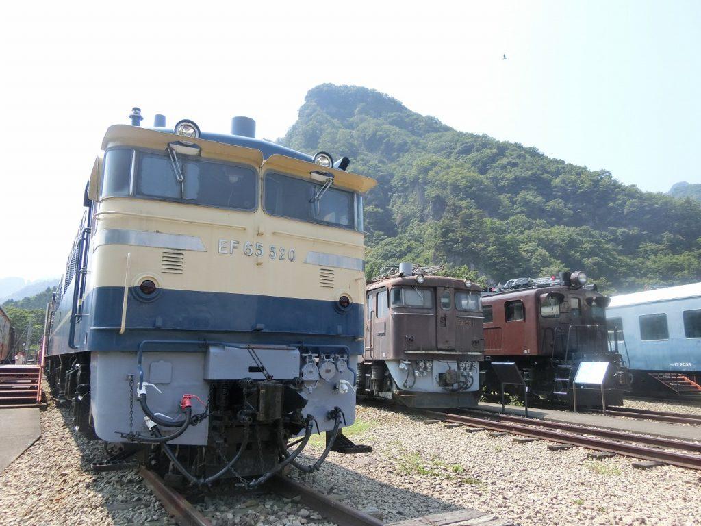 碓氷峠鉄道文化むらのEF65