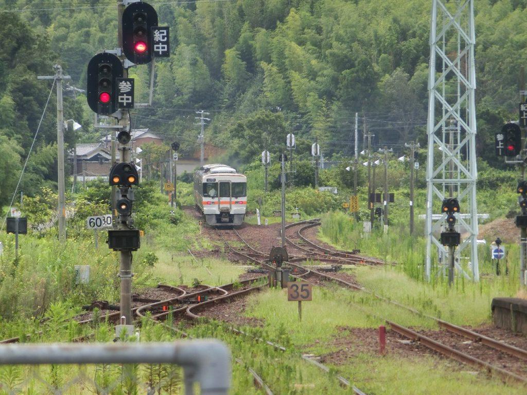 多気駅での参宮線と紀勢本線の分岐