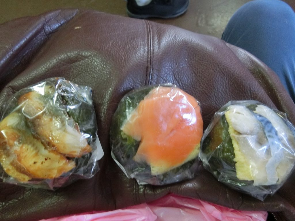 奈良駅で買ったわさび葉寿司