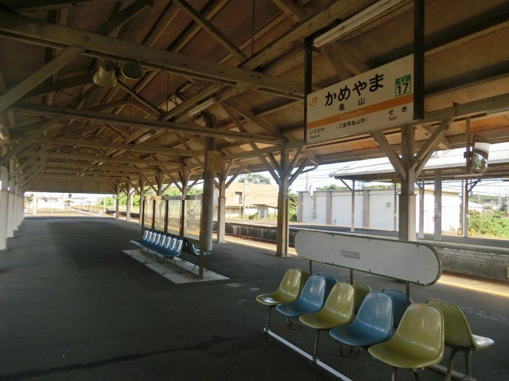 亀山駅の古いホーム