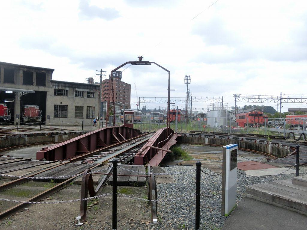 津山まなびの鉄道館の転車台