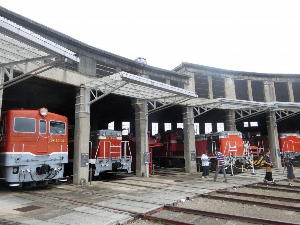 津山まなびの鉄道館の様々なディーゼル機関車