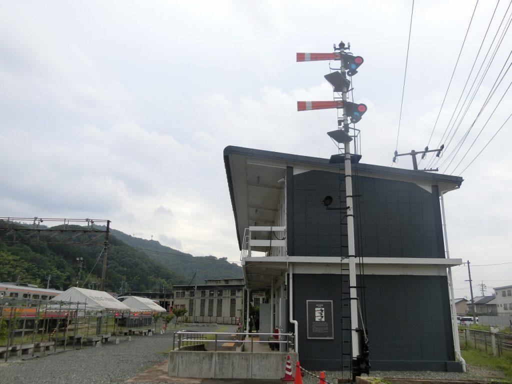 津山まなびの鉄道館の腕木式信号