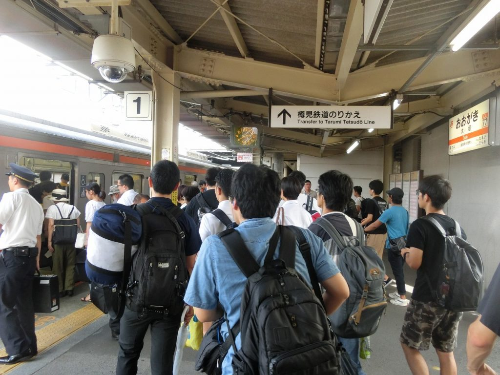 東海道本線大垣駅での乗り換え