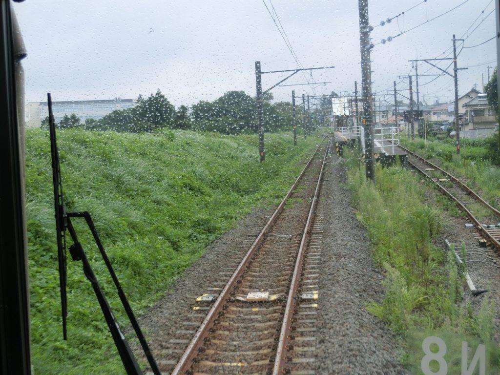 御殿場線富士岡駅に残るスイッチバック跡。