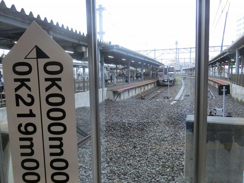 函館駅の0キロポスト