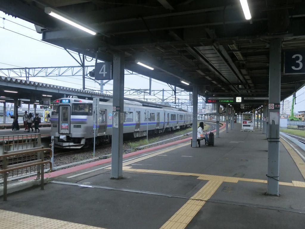 函館駅のホーム
