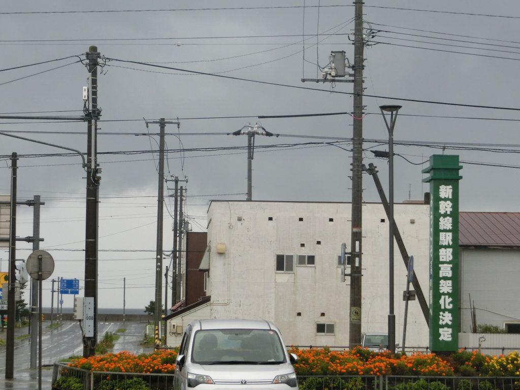 高架の新幹線駅の建設が決まった長万部駅
