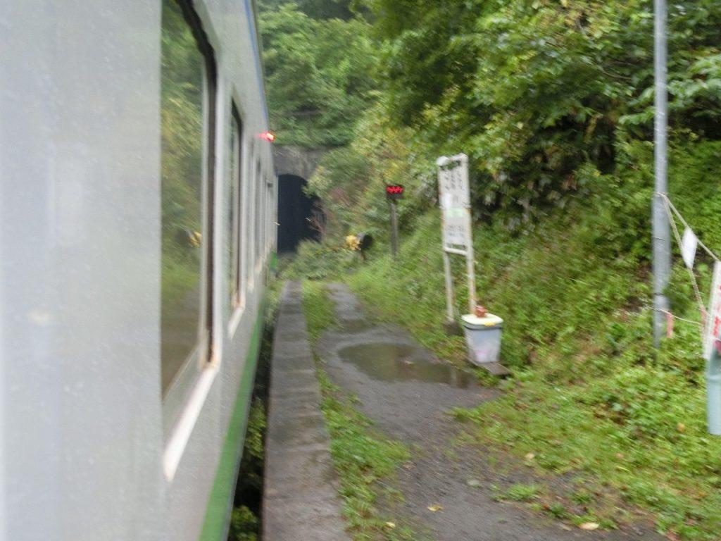 秘境駅、小幌駅のホーム