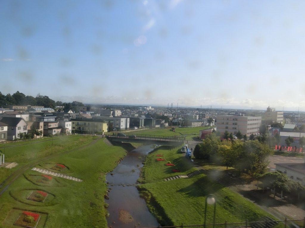 千歳線沿線の札幌郊外の住宅地