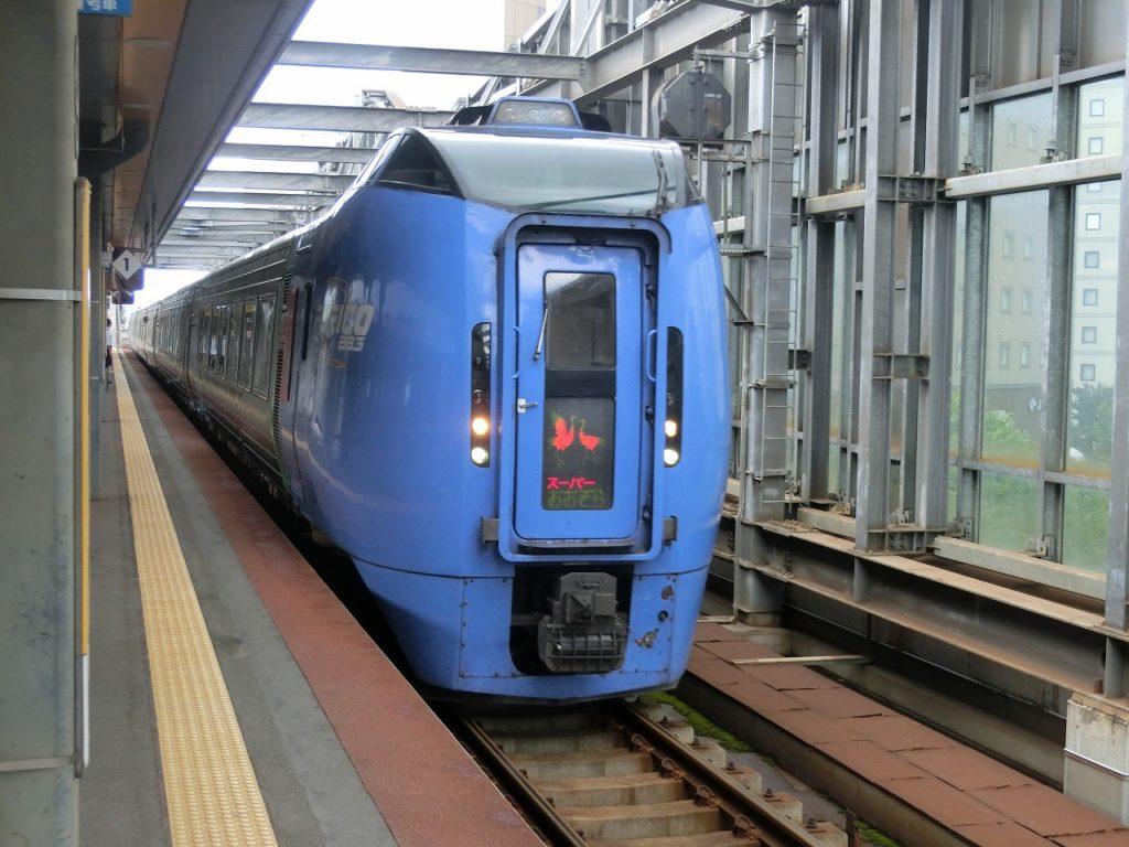 帯広駅に着いたキハ283系スーパーおおぞら