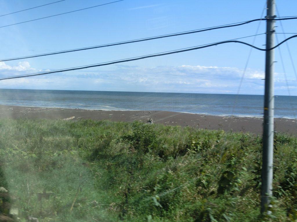 根室本線音別周辺の海