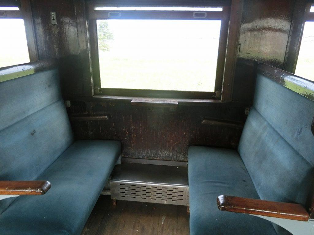 卯原内交通公園のオハ47形のボックスシート