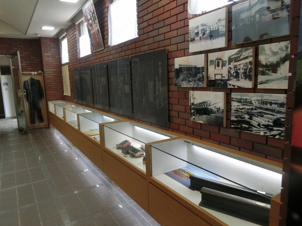 道の駅おこっぺの鉄道記念コーナーの展示