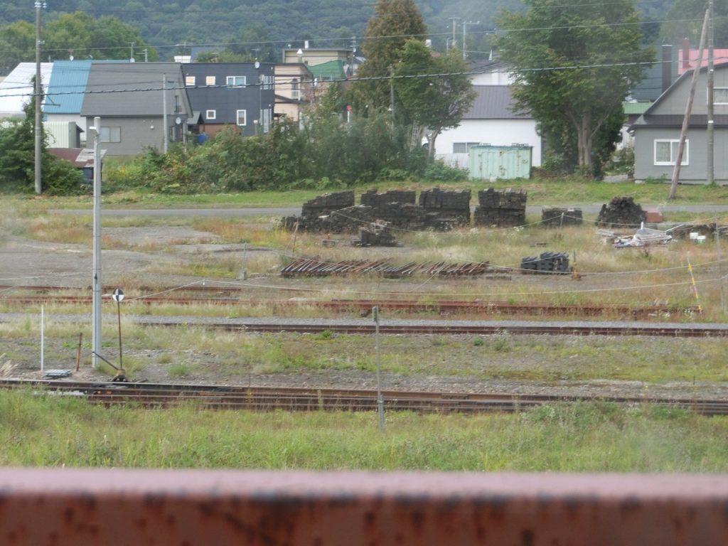 名寄駅の機関区跡