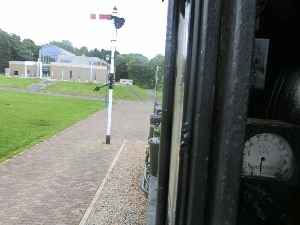 キマロキ編成の先頭の機関車の運転席からの眺め