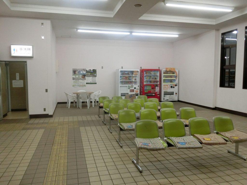 名寄駅の待合室