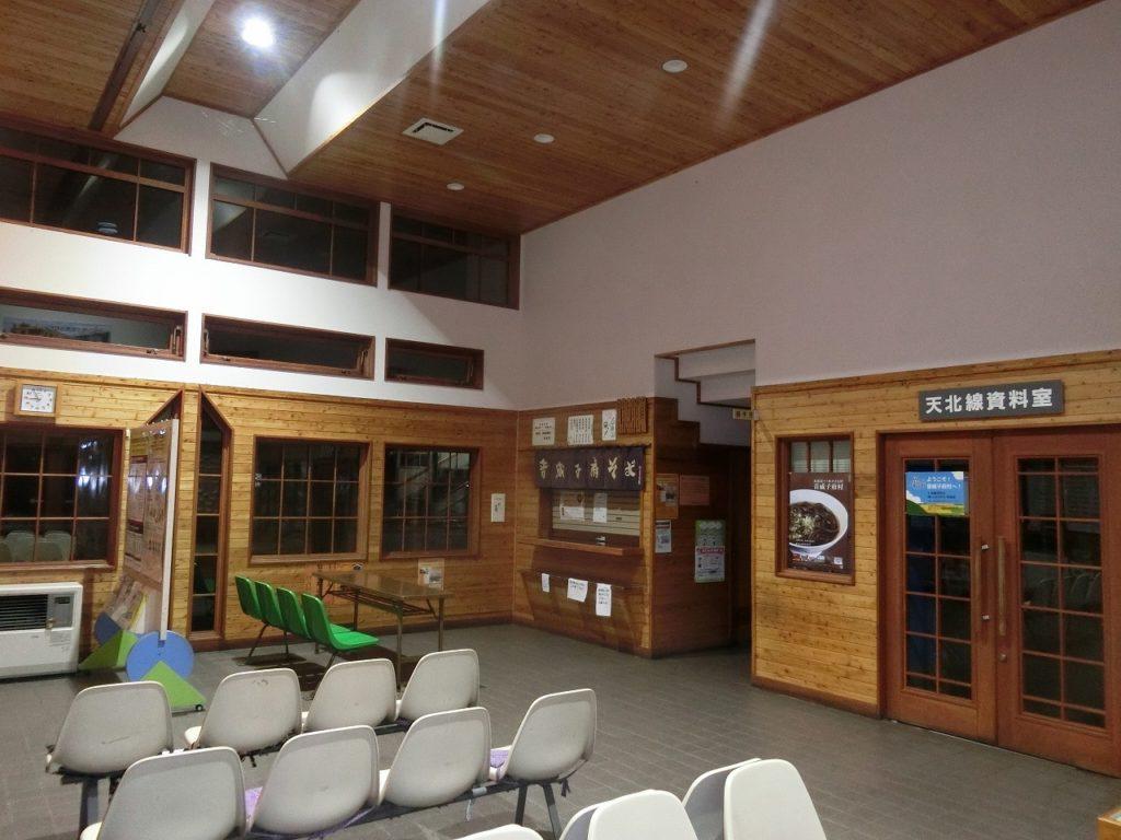 音威子府駅の待合室
