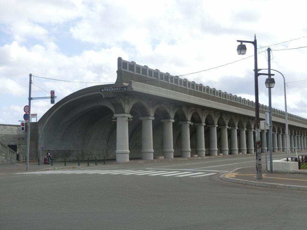 稚内駅近くにある北防波堤ドーム
