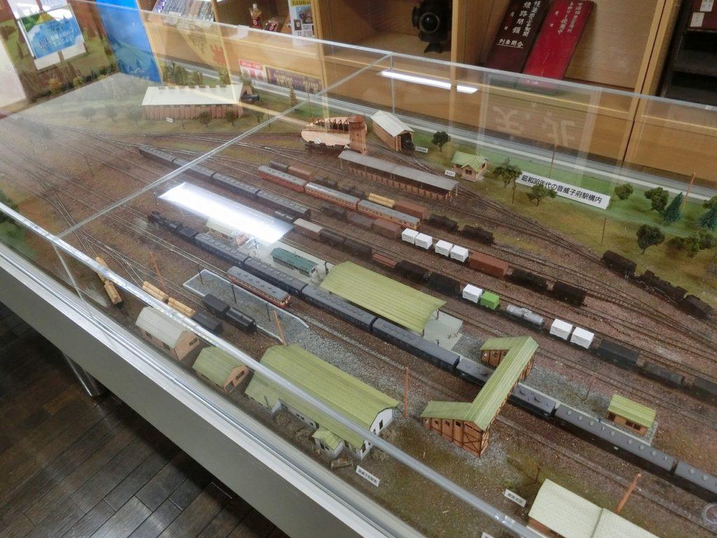 天北線資料室にある昭和30年代の音威子府駅構内の模型。