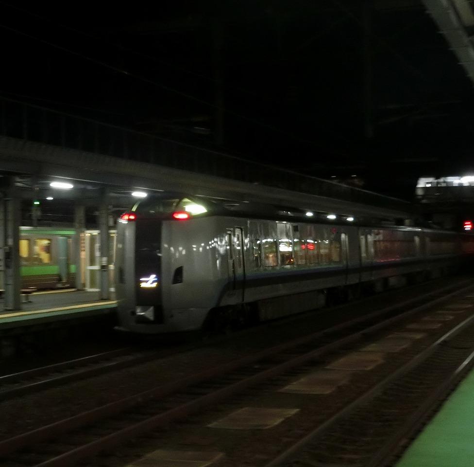 岩見沢駅に停車中の789系1000番台「カムイ」