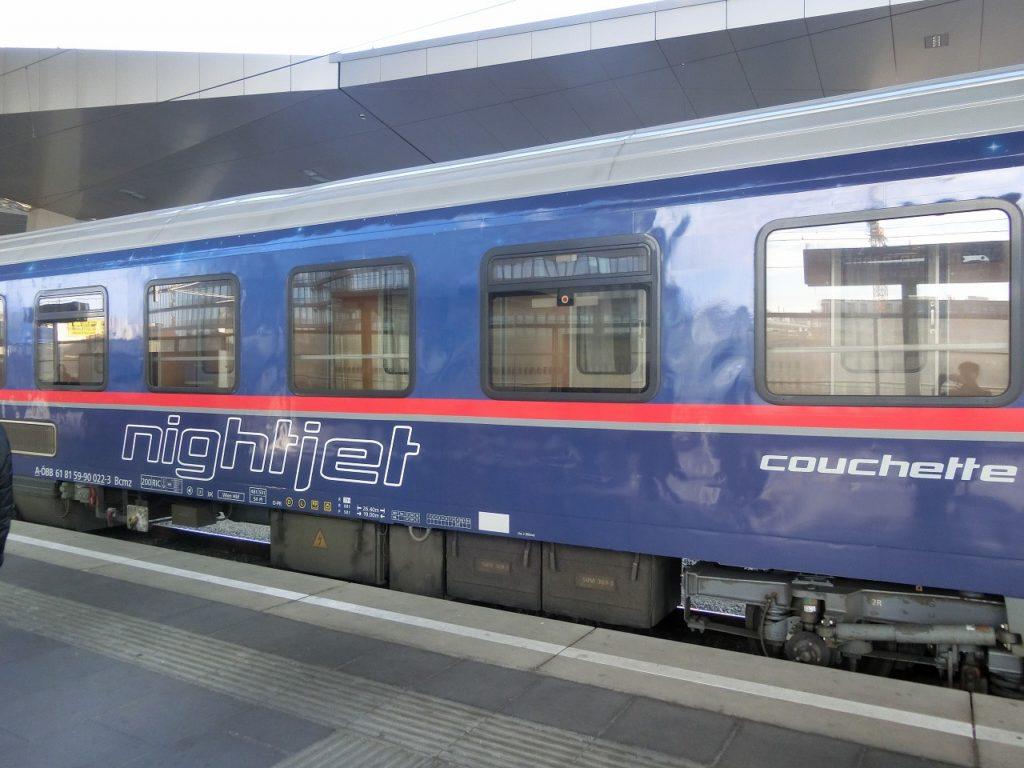 オーストリア国鉄ナイトジェットの外観