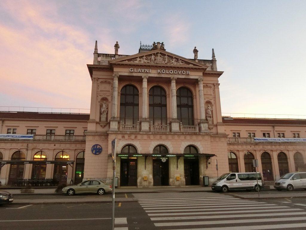 ザグレブ中央駅の外観